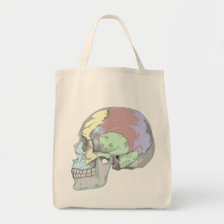 COLORFUL SKULL DESIGN Grocery Tote Grocery Tote Bag