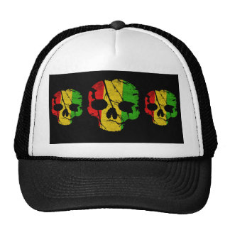 Colorful Skull Mesh Hats