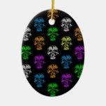Colorful Skulls Pattern Christmas Tree Ornament