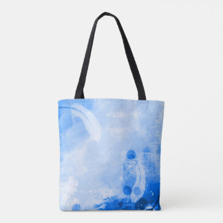 Colorful Sky Blue Angel Feathers Airbrush Art Tote Bag
