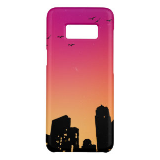 Colorful Sky w/ Birds and Buildings Silhouette Case-Mate Samsung Galaxy S8 Case