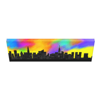 Colorful Skyline Gallery Wrap Canvas