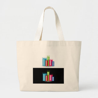 Colorful skyscrapers canvas bag