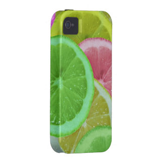 colorful slices of lemon and orange iPhone 4/4S case
