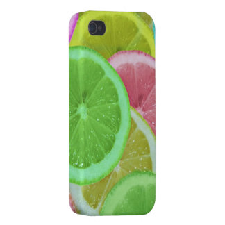 colorful slices of lemon and orange cases for iPhone 4