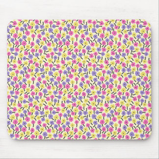 Colorful small flower pattern mouse pad