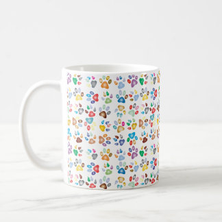 Colorful Small Paws Cat Paw Print Mug