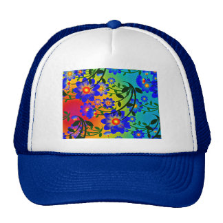 colorful smile happy blossoms shower party cap