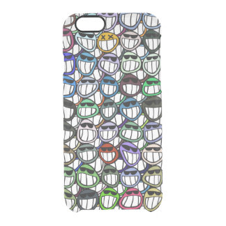 Colorful smiles clear iPhone 6/6S case