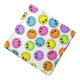 Colorful Smiley Faces Bandana
