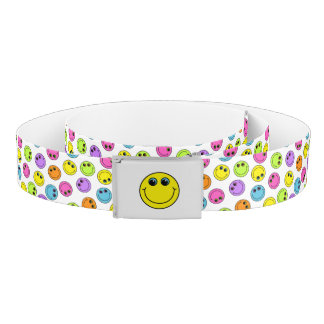 Colorful Smiley Faces Belt