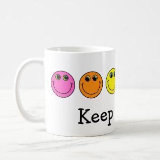 Colorful Smiley Faces Keep Smiling Coffee Mug
