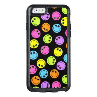 Colorful Smiley Faces on Black OtterBox iPhone 6/6s Case