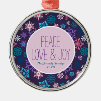 Colorful Snowflakes Pattern Christmas Ornament