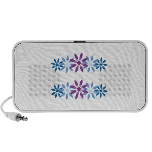 Colorful Snowflakes Travelling Speaker