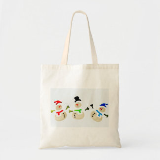 Colorful Snowman Christmas Parade Party Favor Gift Tote Bag