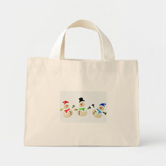 Colorful Snowman Christmas Parade Small Mini Tote Bag
