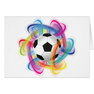 Colorful Soccer Ball Note Cards
