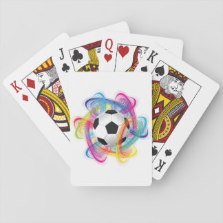 Colorful Soccer Ball Playing Cards