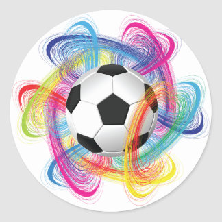 Colorful Soccer Ball Stickers