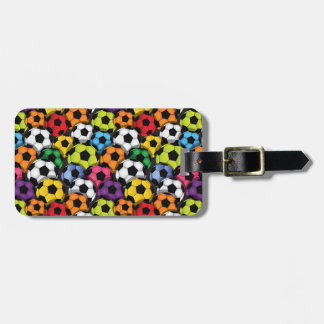 Colorful Soccer Balls Design Luggage Tags