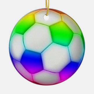 Colorful Soccer | Football Sport Gift Round Ceramic Decoration