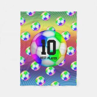 Colorful Soccers Balls | Girly Sport Gift Fleece Blanket