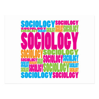 Colorful Sociology Postcard