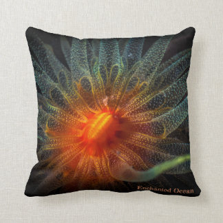 Colorful soft coral, Marine Flowers Cushion