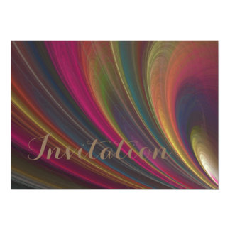 Colorful Soft Sand Waves 13 Cm X 18 Cm Invitation Card