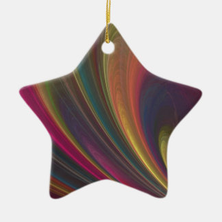 Colorful Soft Sand Waves Christmas Ornament