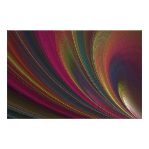 Colorful Soft Sand Waves Poster