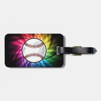 Colorful Softball; Baseball Luggage Tag