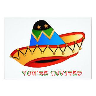 Colorful Sombrero You're Invited 13 Cm X 18 Cm Invitation Card