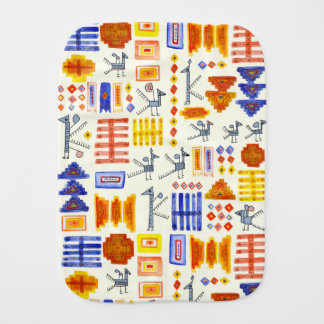 Colorful South American textile baby burp cloth