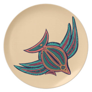 Colorful South Seas Art Party Plates