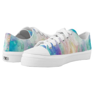Colorful Space Nebula Abstract Background Printed Shoes