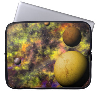 Colorful Space Scene Computer Sleeve