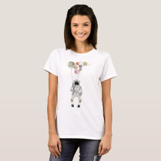 Colorful Spaceman Doing Space Party T-Shirt