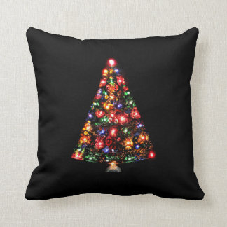 Colorful Sparkly Christmas Tree Cushion