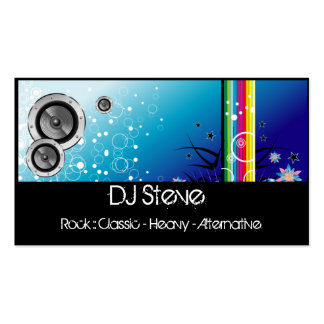 Colorful Speakers Band DJ Music 2 Business Cards