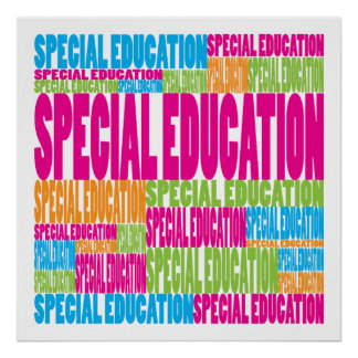 Colorful Special Education Print