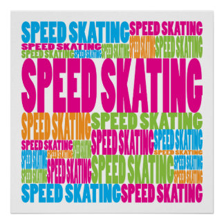 Colorful Speed Skating Poster