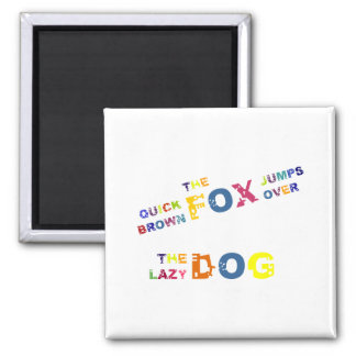 Colorful Spelling Alphabet Pangram Magnet