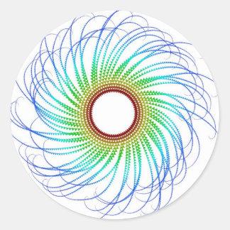 Colorful Spiral Classic Round Sticker