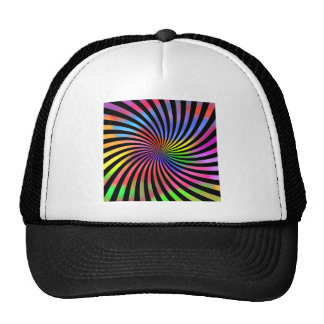 Colorful Spiral Design: Cap