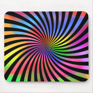 Colorful Spiral Design: Mouse Mat