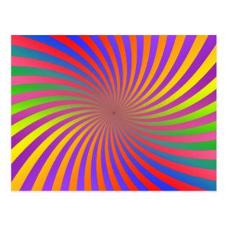 Colorful Spiral Design Post Cards