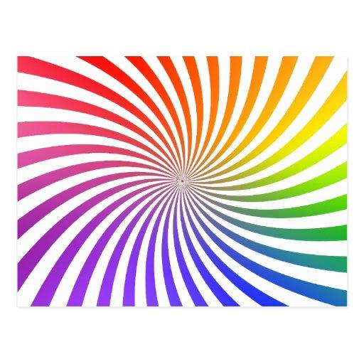 Colorful Spiral Design: Postcards