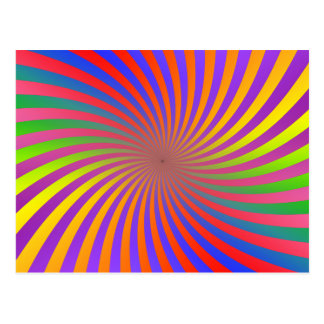 Colorful Spiral Design: Postcard